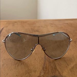 Valentino sunglasses, with crystal detail.